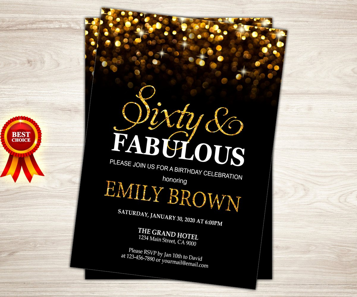60 Th Birthday Invites New Surprise 60th Birthday Invitation for Women Sixty and