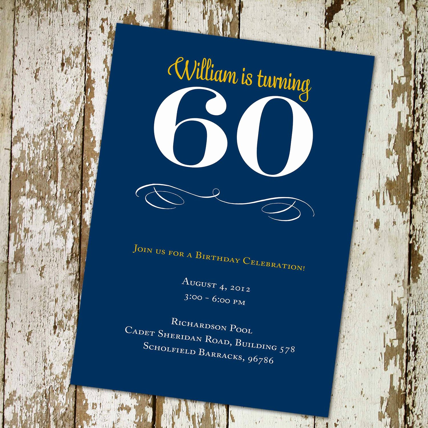 60 Th Birthday Invites Unique 60th Birthday Invitation Any Color Retirement Surprise Party