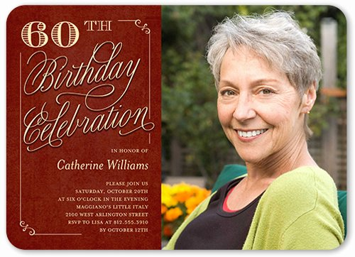 60 Th Birthday Invites Unique 60th Birthday Invitations