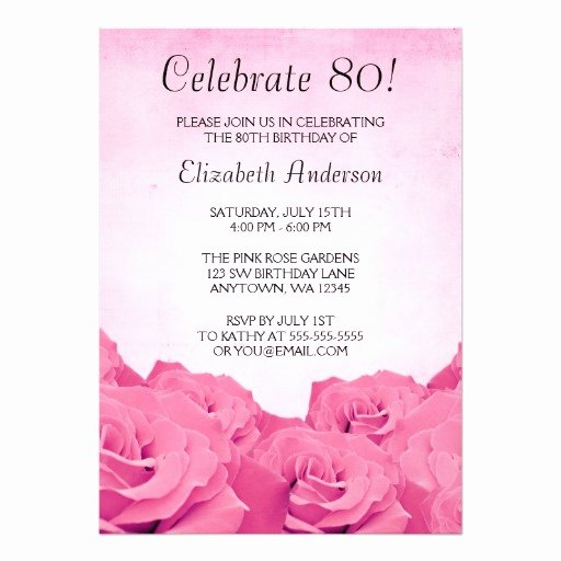 80th Birthday Party Invitations Awesome Free Printable 80th Birthday Invitations