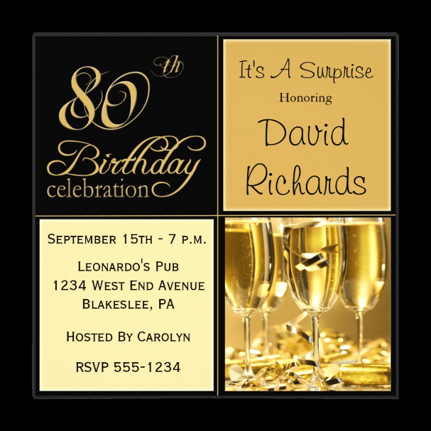 80th Birthday Party Invitations Beautiful 80th Birthday Invitations 30 Best Invites for An 80th