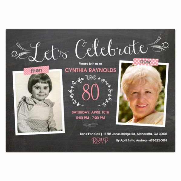 80th Birthday Party Invitations Elegant Best 25 80th Birthday Invitations Ideas On Pinterest