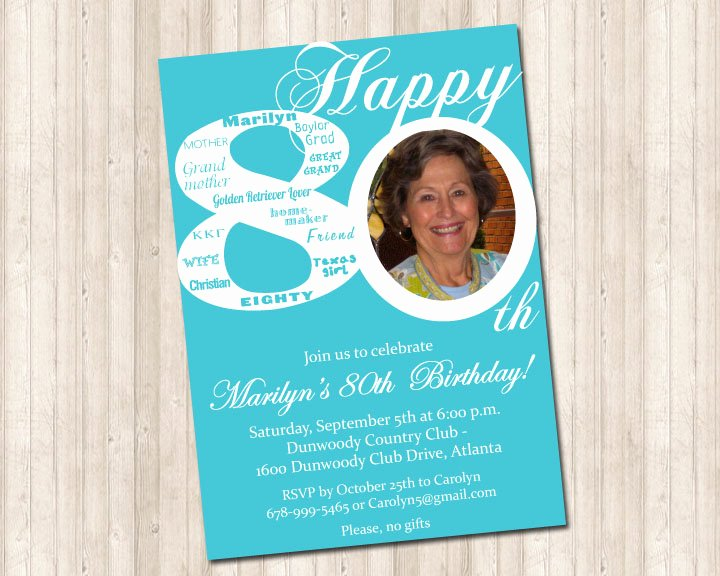 80th Birthday Party Invitations Fresh 80th Birthday Invitation Pure Design Graphics