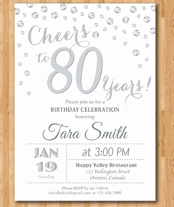 80th Birthday Party Invitations Fresh Image Result for 80th Birthday Invitations