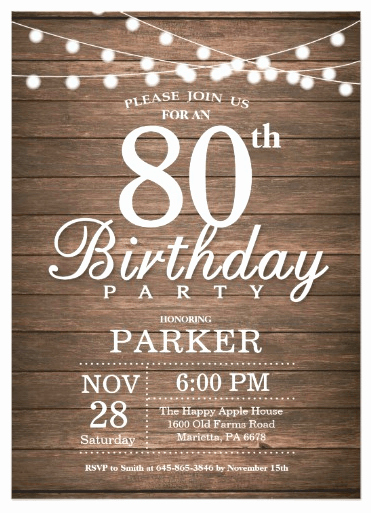 80th Birthday Party Invitations Luxury 80th Birthday Invitations 30 Best Invites for An 80th