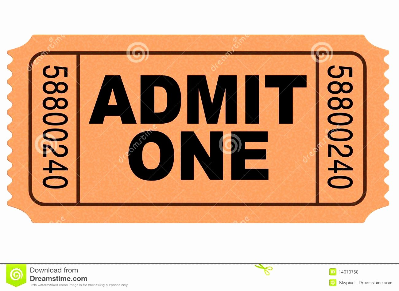 Admit One Ticket Template Beautiful Concert Ticket Clipart