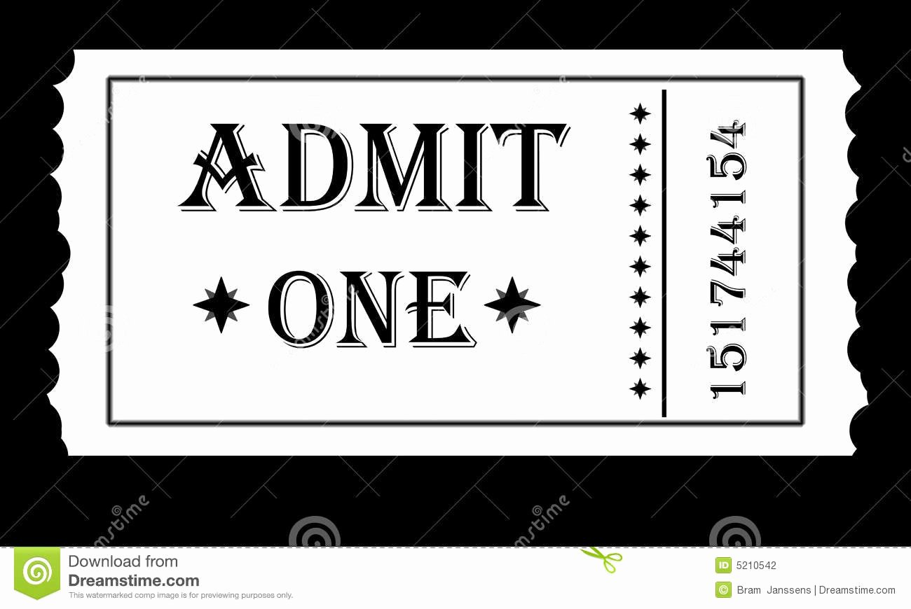 Admit One Ticket Template Best Of Admit E Ticket Clipart Clipart Suggest