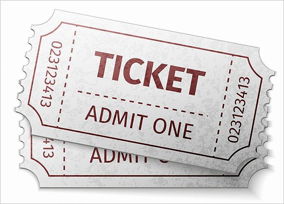 Admit One Ticket Template Best Of Ticket Templates – 99 Free Word Excel Pdf Psd Eps