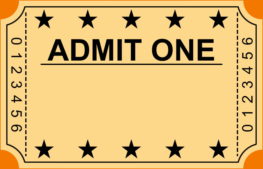 Admit One Ticket Template Elegant 6 Ticket Templates