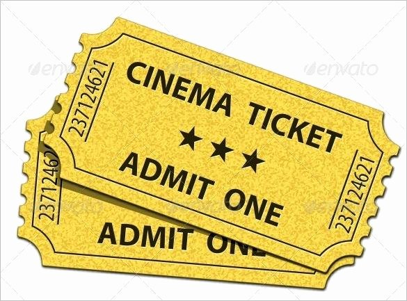 Admit One Ticket Template Elegant 81 Ticket Templates Free Download