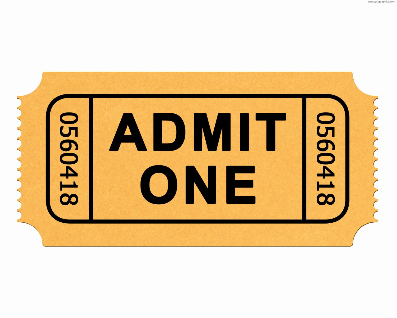 Admit One Ticket Template Elegant Admit E Ticket Template Clipart Best
