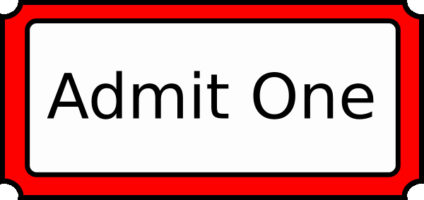 Admit One Ticket Template Fresh Admit One Clipart Clipground