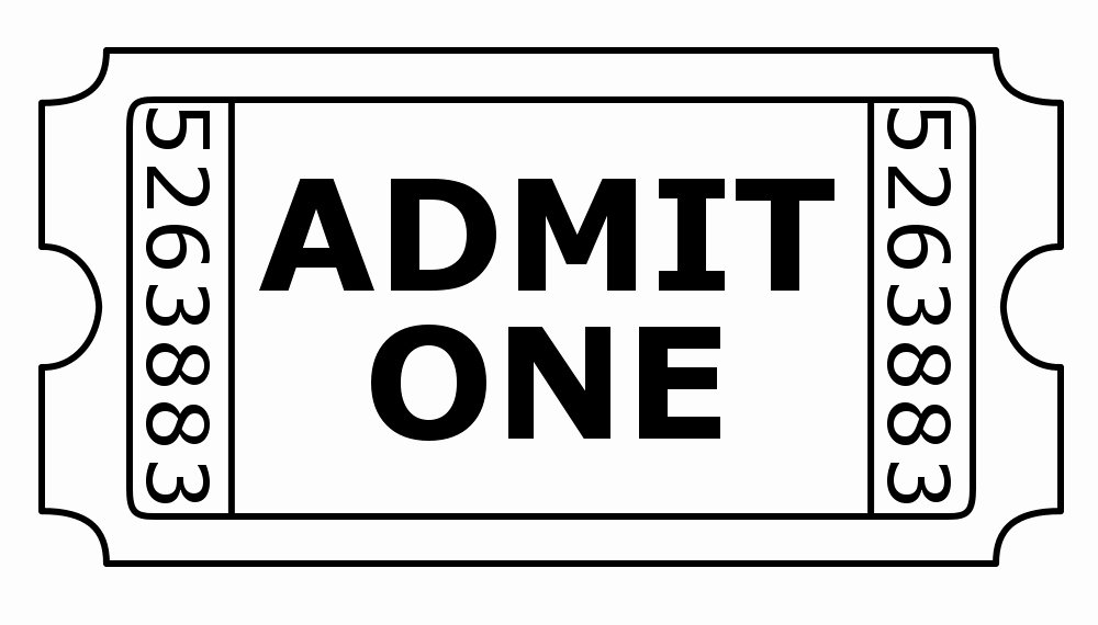 Admit One Ticket Template Lovely Free Digistamps