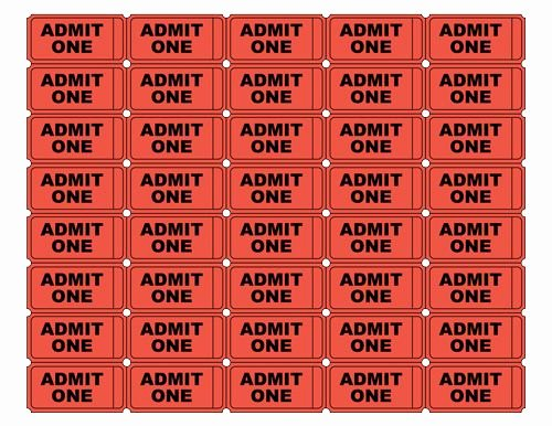 Admit One Ticket Template Lovely Free Printable Admit E Ticket Templates Blank
