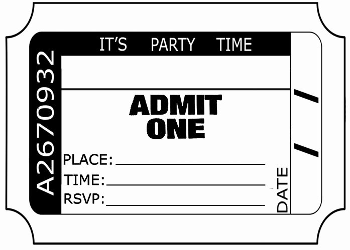 Admit One Ticket Template Luxury Admit E Ticket Template Download Clipart Best