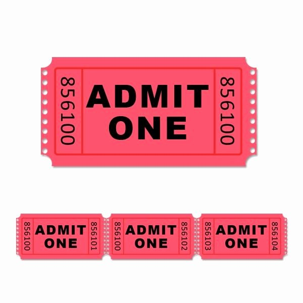 Admit One Ticket Template Unique Movie Clipart Admit One Pencil and In Color Movie