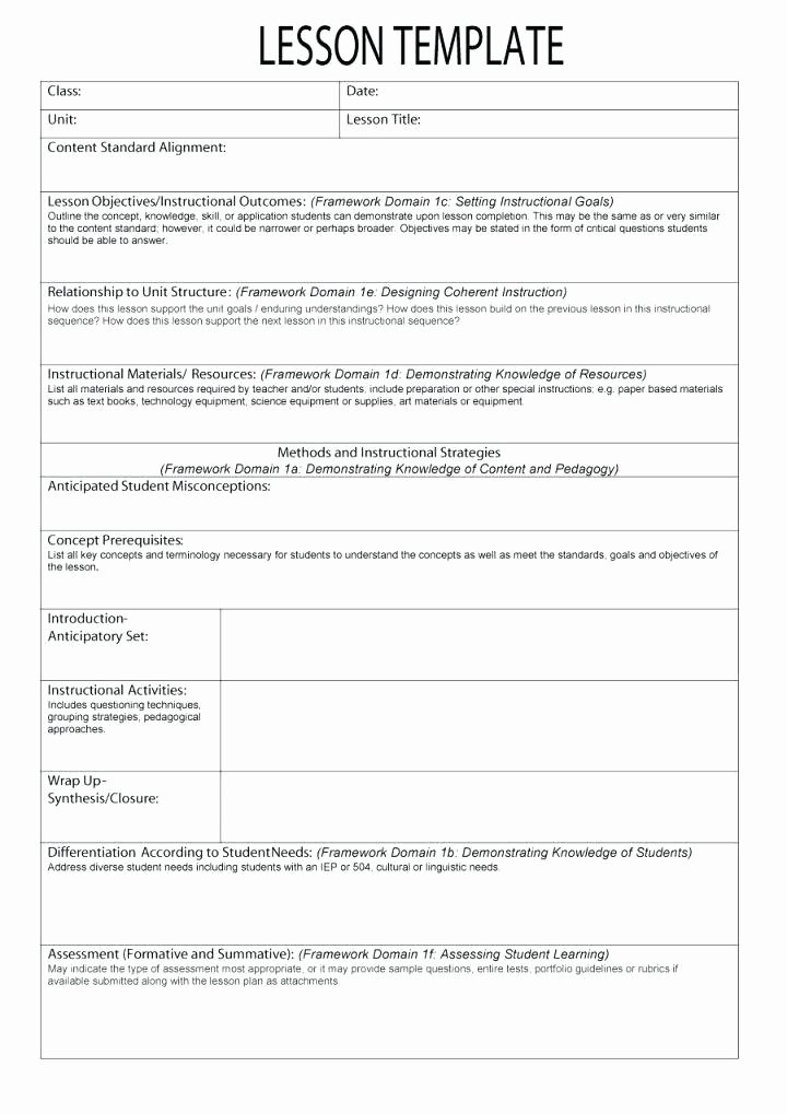 Art Lesson Plan Template Luxury Science Lesson Plan Template Elementary – Science Lesson