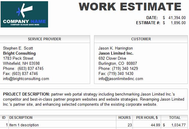 Auto Repair Estimate Template Luxury Auto Labor Quotes Quotesgram