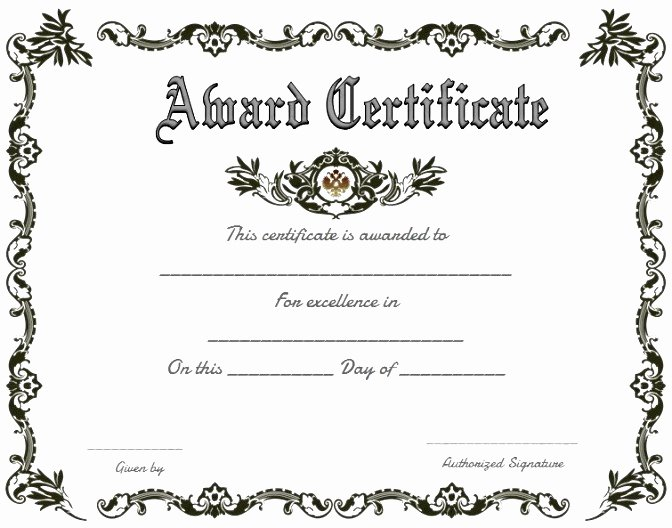 Award Certificate Template Free Beautiful Professional Business Certificate Template Examples Thogati