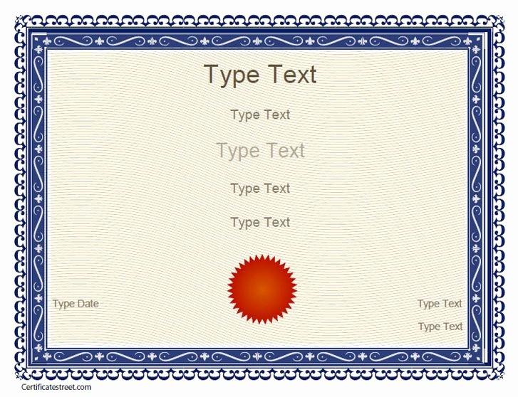 Award Certificate Template Free Best Of Free Certificate Templates
