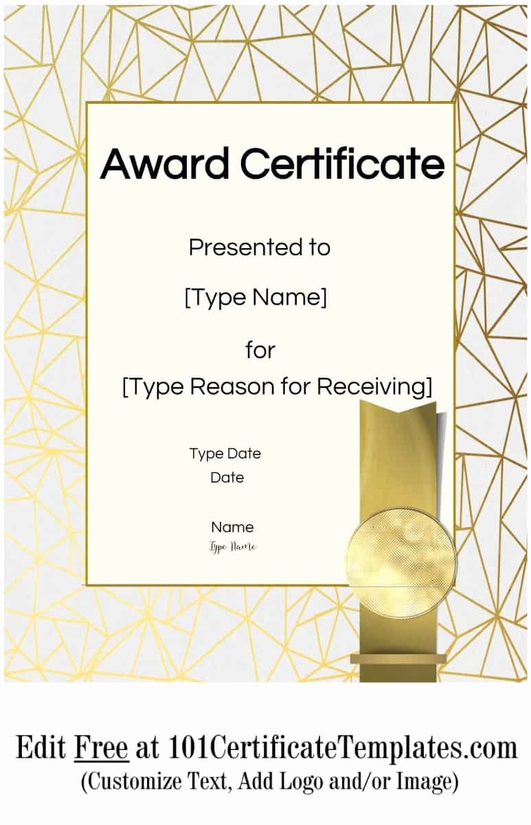 Award Certificate Template Free Best Of Free Printable Certificate Templates