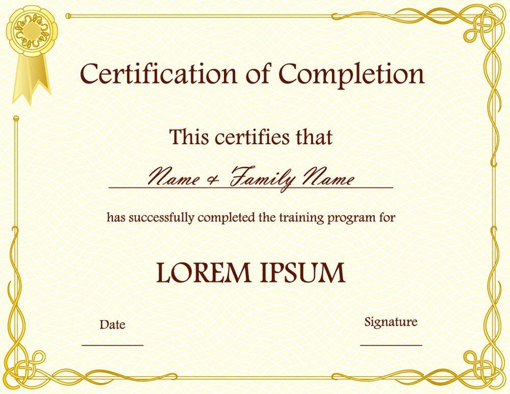 Award Certificate Template Free Elegant Certificate Templates