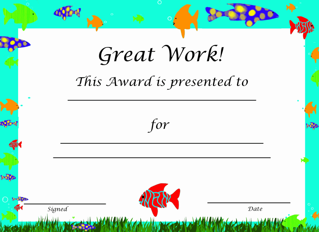 Award Certificate Template Free Elegant Free Certificate Templates Downloads