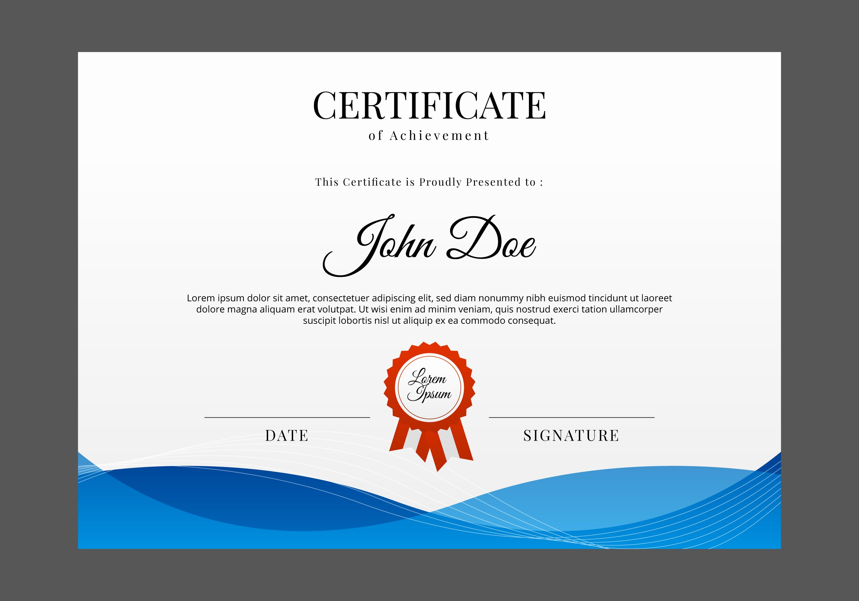 Award Certificate Template Free Fresh Free Certificate Template Vector Download Free Vectors
