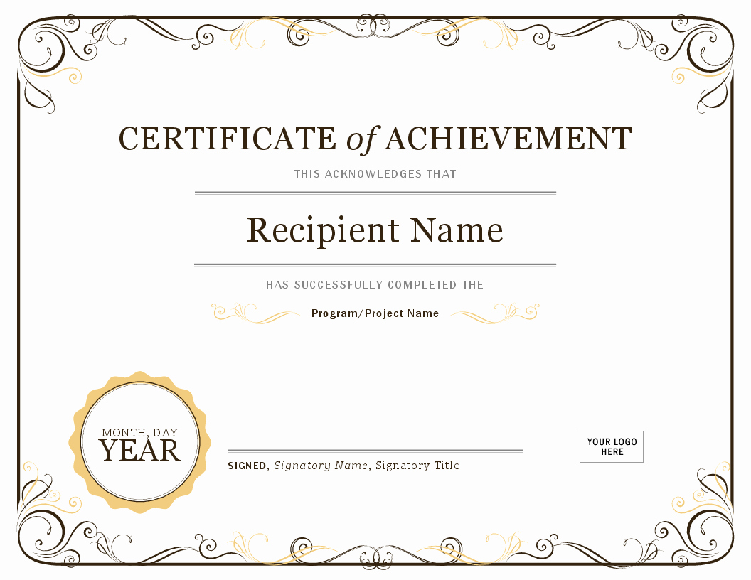Award Certificate Template Free Inspirational Certificates Fice