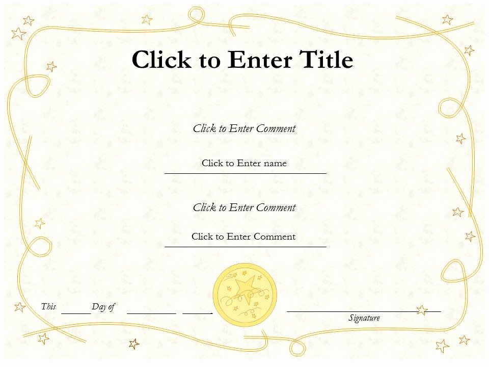 Award Certificate Template Free Lovely Free Editable Blank Award Certificate Template Example