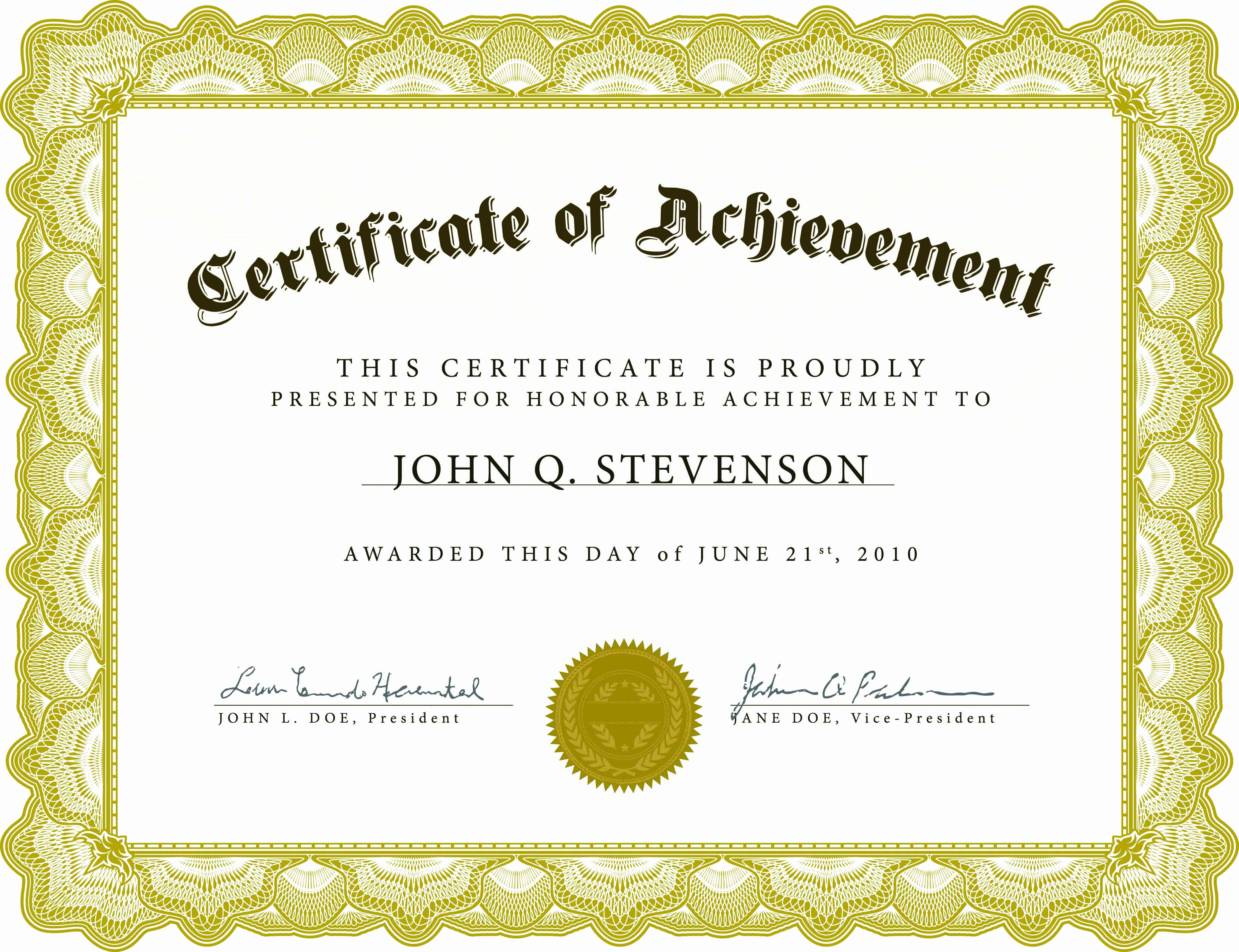 Award Certificate Template Free Luxury Blank Certificate Template X3hr9dto