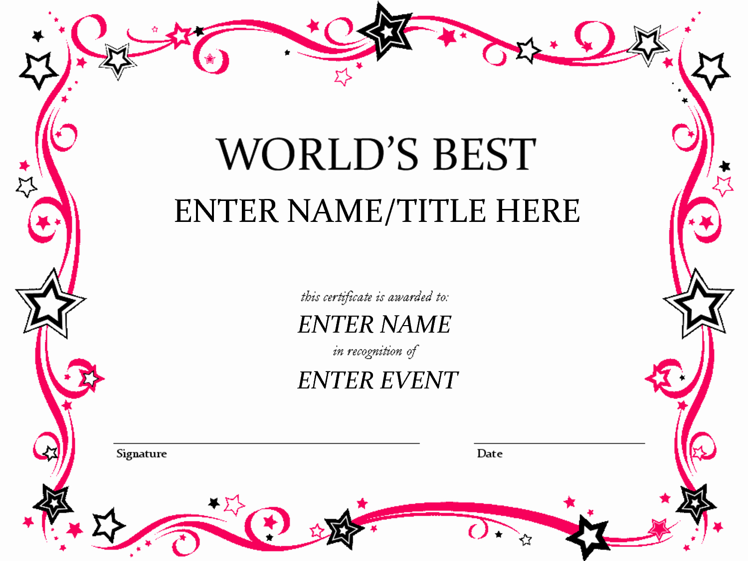 Award Certificate Template Free Luxury Pages Certificate Templates Invitation Templates