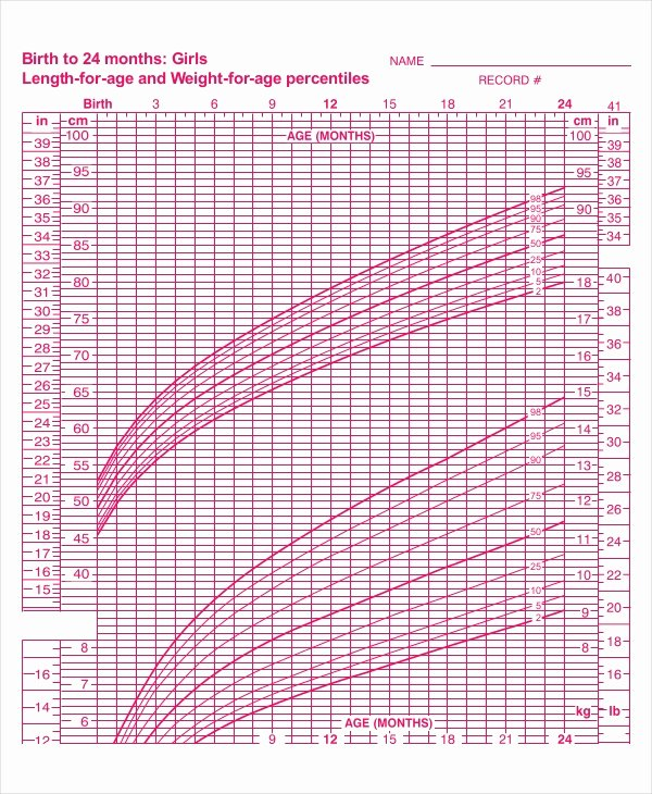 Baby Girl Growth Chart Lovely 7 Baby Girl Growth Chart Templates Sample Example