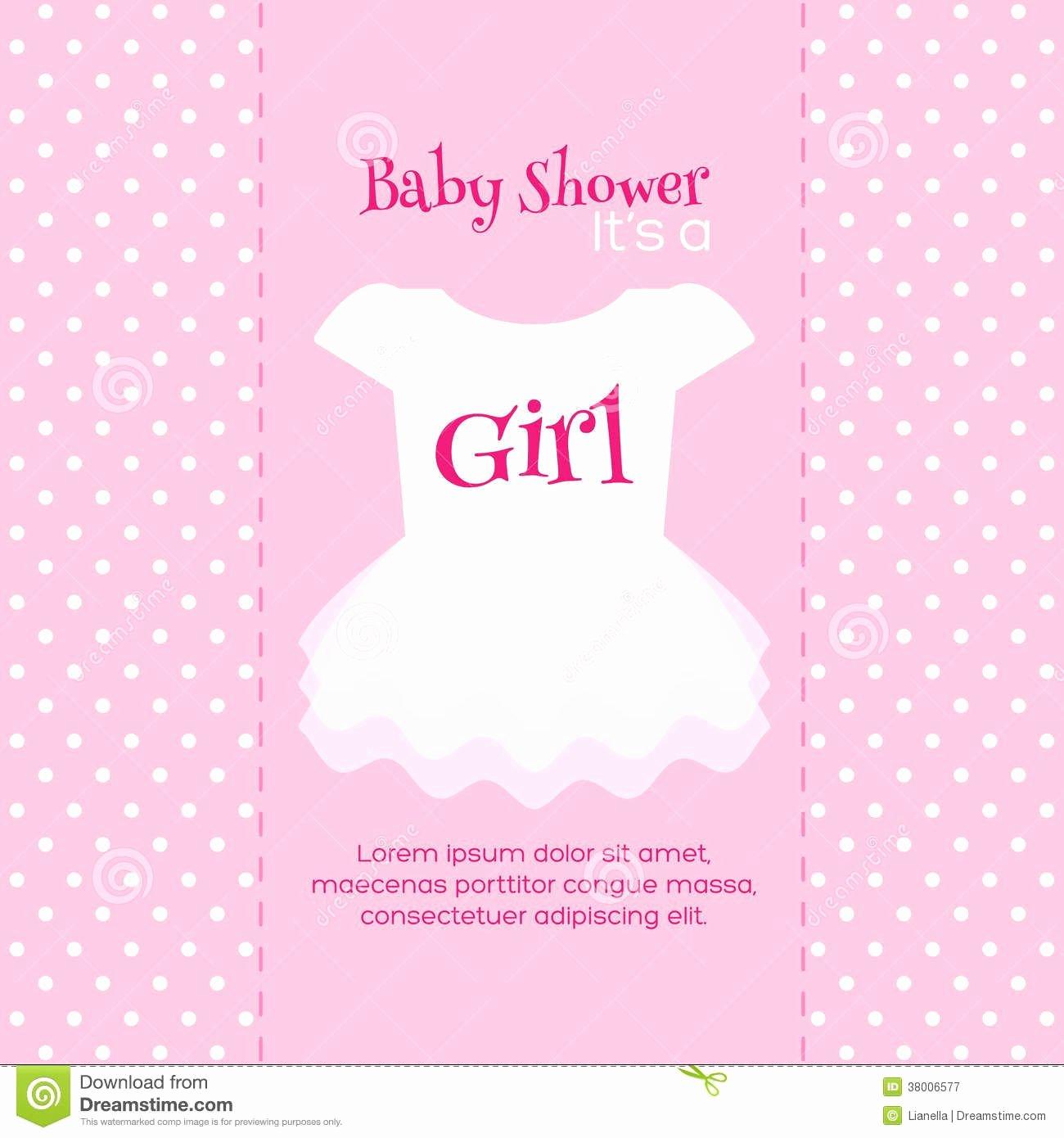Baby Shower Card Printable Beautiful Design Free Printable Baby Shower Invitations for Girls