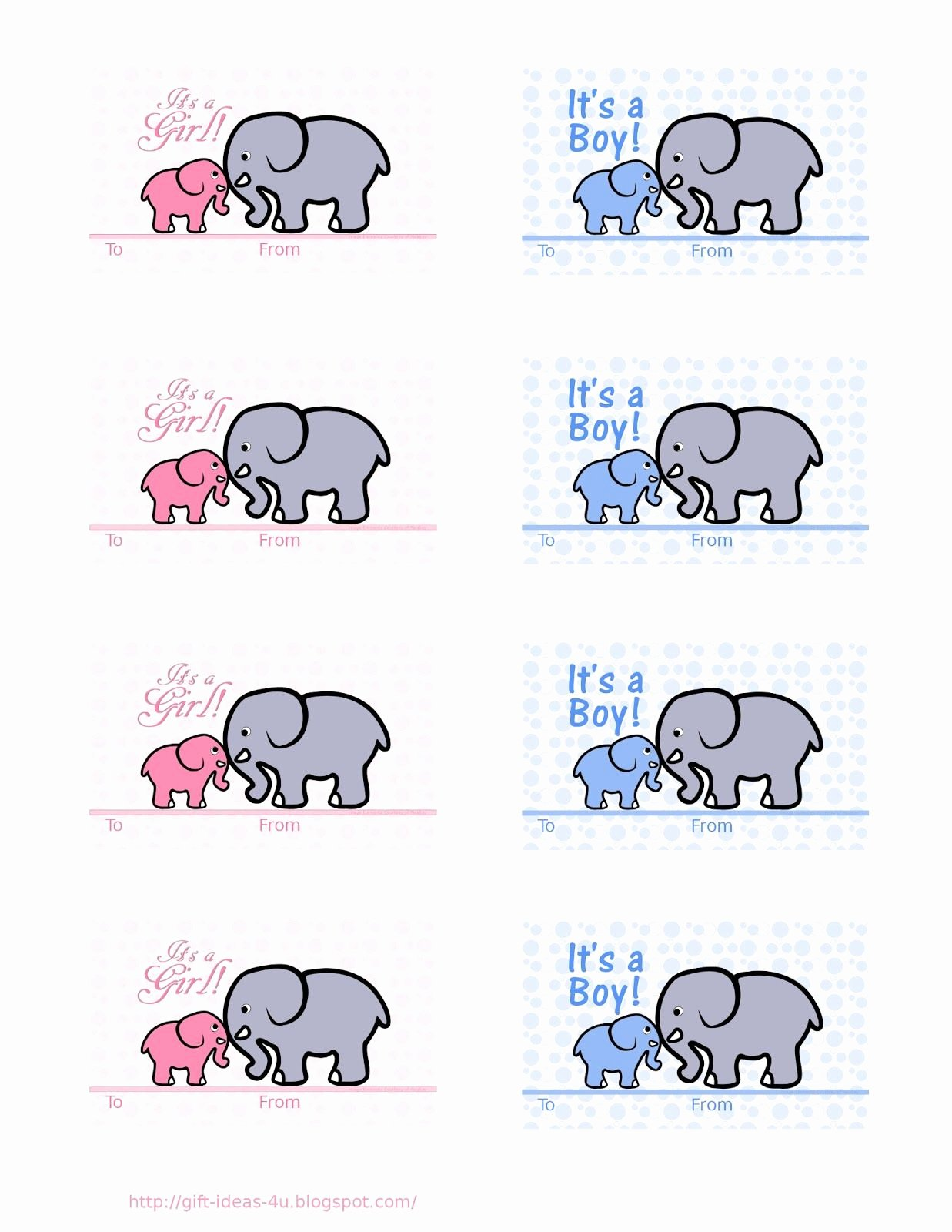 Baby Shower Card Printable Best Of Free Printable Baby Shower Gift Tags Two Cute Designs