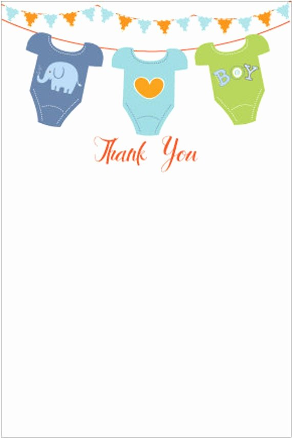 Baby Shower Card Printable Best Of Printable Baby Shower Thank You Card