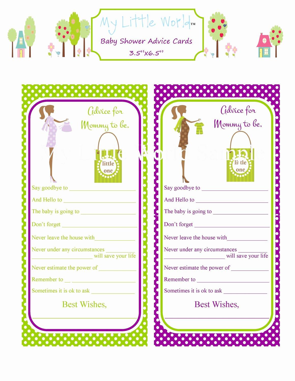 Baby Shower Card Printable Best Of Printable Mommy to Be Advice Cards Baby Advice Cards Print