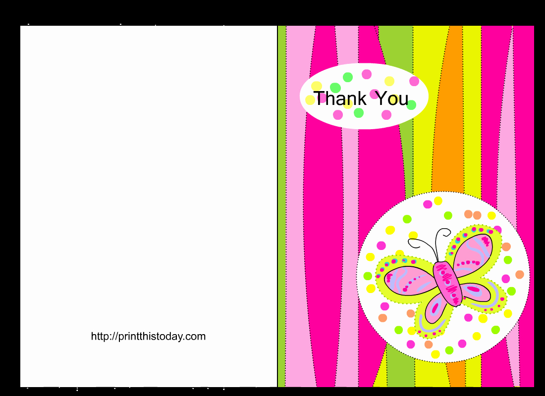 Baby Shower Card Printable Fresh butterfly Baby Shower Thank You Cards Free Printable