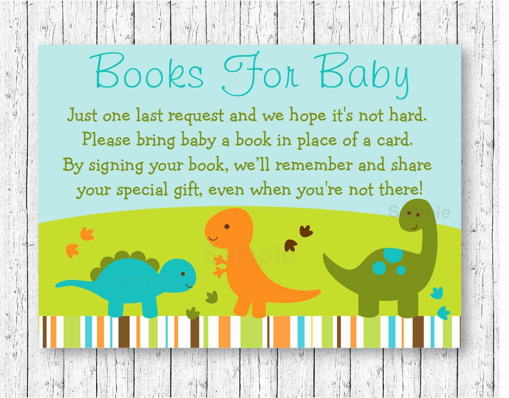 Baby Shower Card Printable Lovely Baby Dinosaurs Printable Baby Shower Book Request Cards