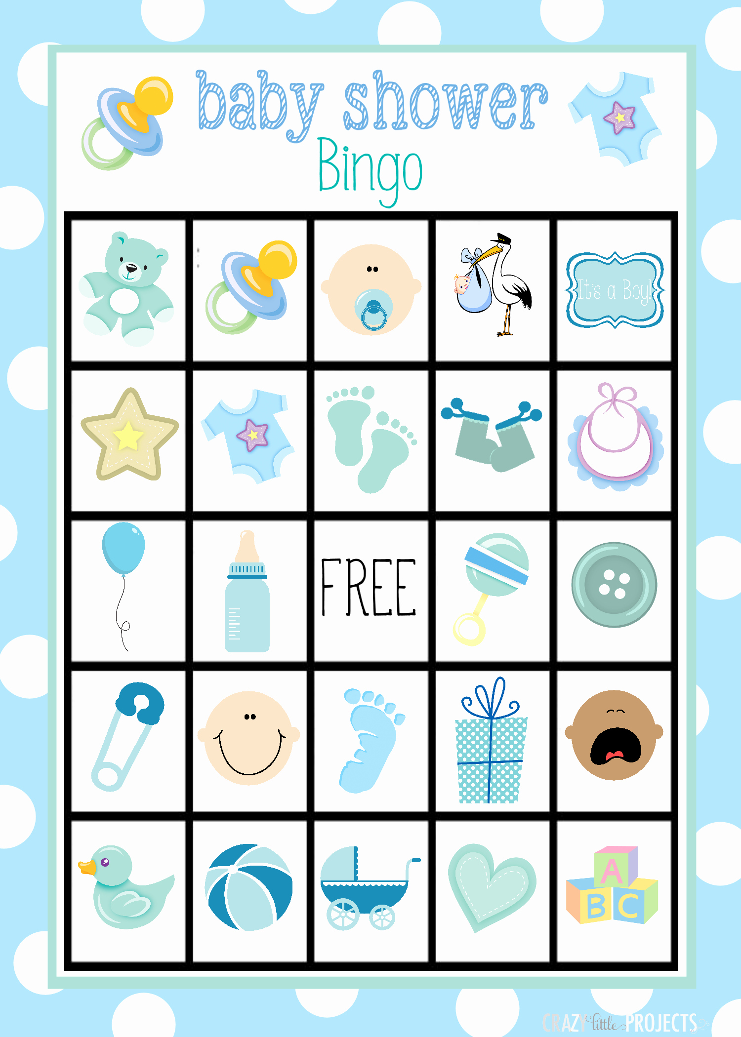Baby Shower Card Printable Luxury Baby Shower Bingo Cards