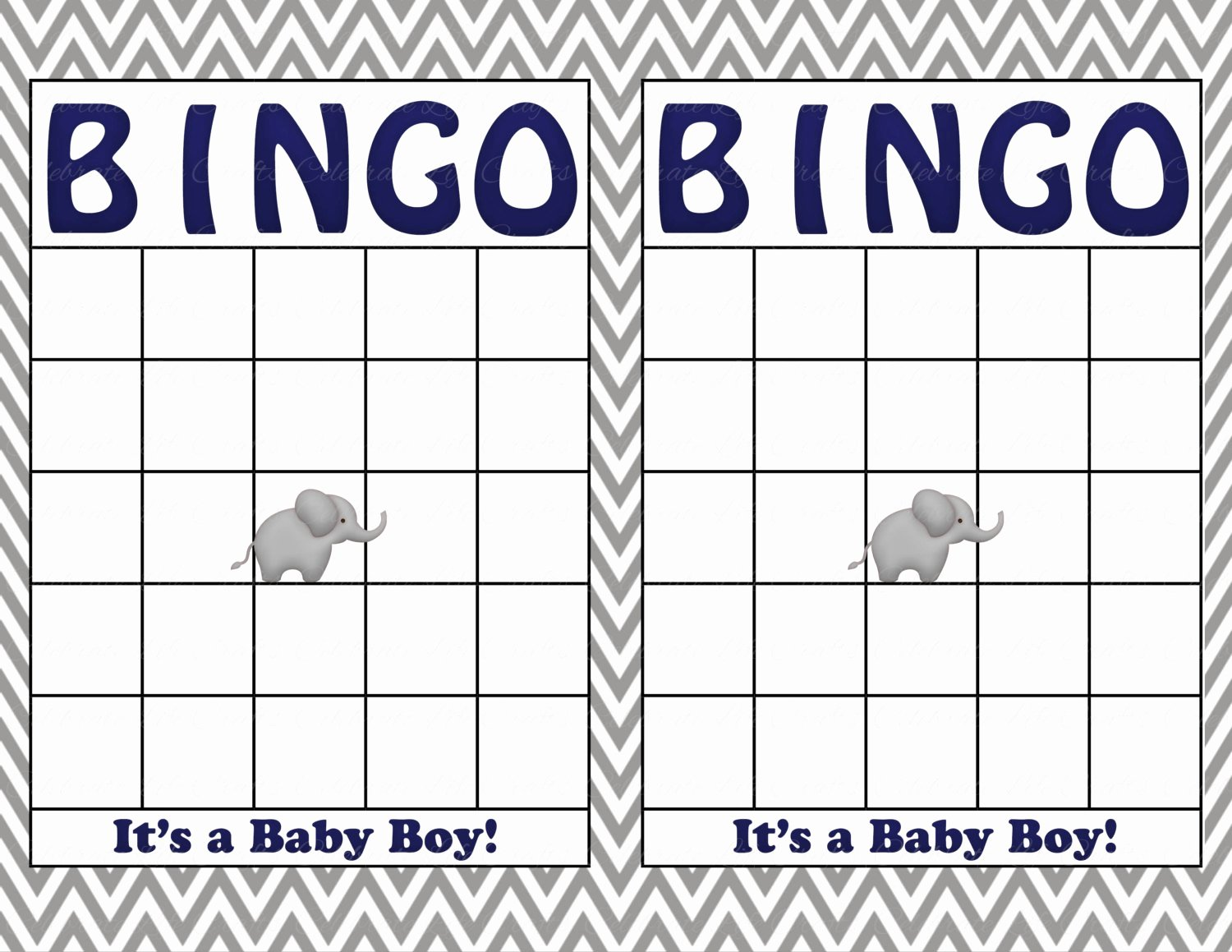 Baby Shower Card Printable New Blank Baby Shower Bingo Cards Printable Party Baby Boy