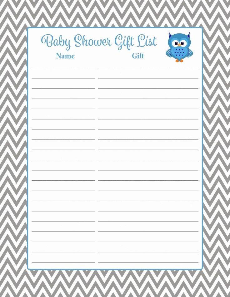 baby shower t list