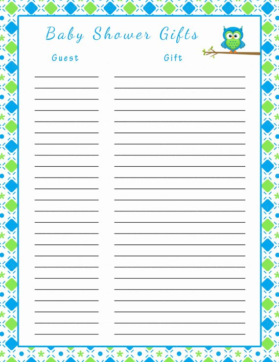 Baby Shower Gift Lists Best Of Baby Shower Gift Tracker