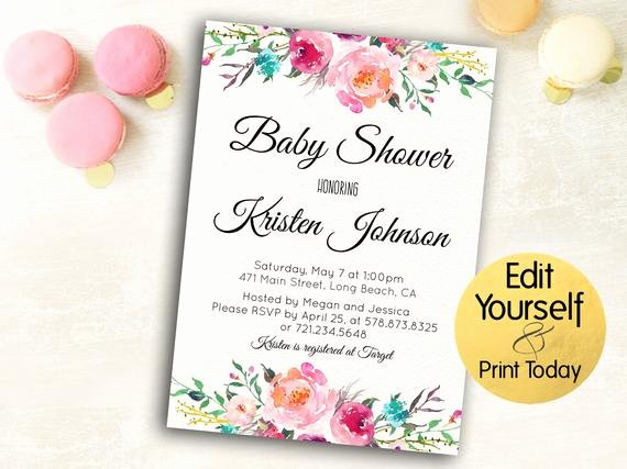 Baby Shower Invitations Templates Editable Awesome Baby Shower Invitation Template Editable Baby Shower Invite