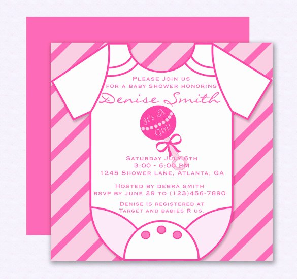 Baby Shower Invitations Templates Editable Elegant 14 Esie Template Free Psd Vector Eps Ai format