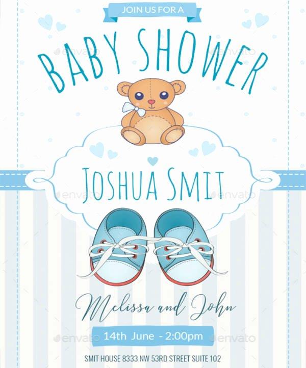 Baby Shower Invitations Templates Editable Inspirational 16 Baby Shower Invitation Templates for Boys Psd Ai