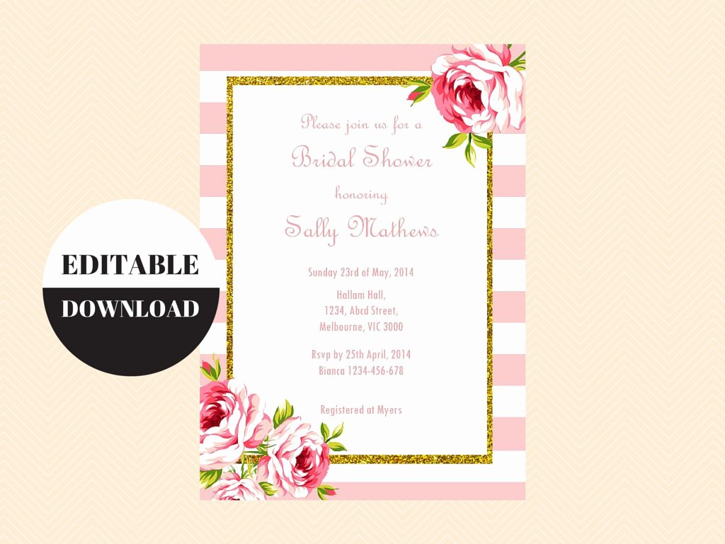 Baby Shower Invitations Templates Editable Luxury Editable Baby Shower Invitations Editable Bridal Shower