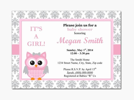 Baby Shower Invitations Templates Editable New Owl Baby Shower Invitation Diy Printable by Designtemplates