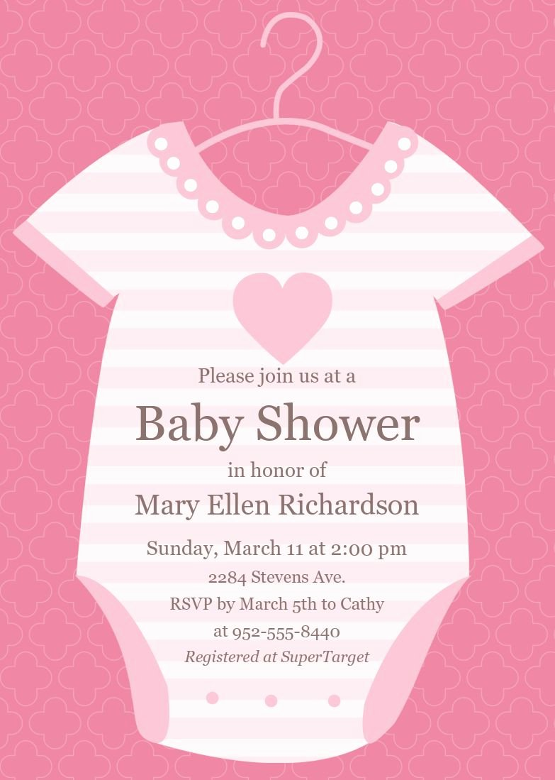 Baby Shower Invite Template Awesome Baby Shower Invitations Baby Shower Invitations Cards