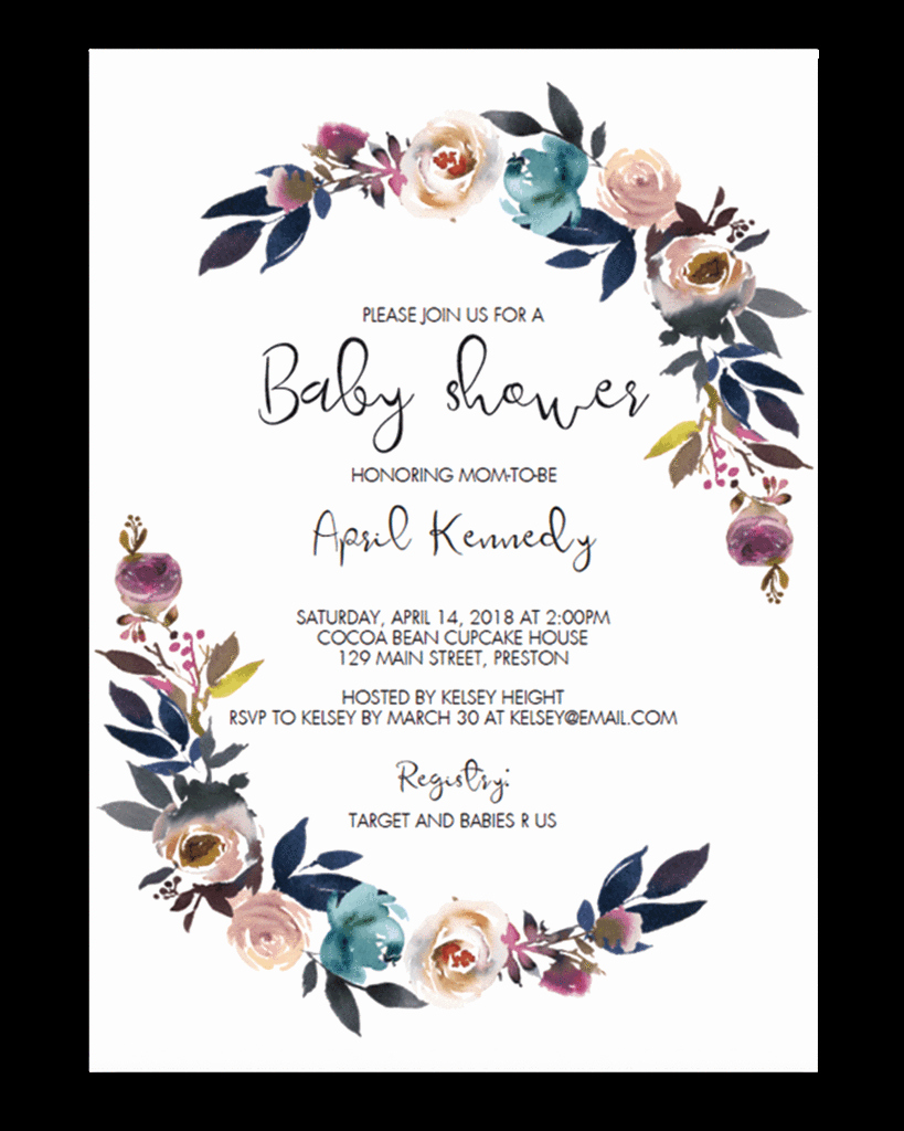 Baby Shower Invite Template Best Of Baby Shower Template – Unicorn Baby Shower Invitation